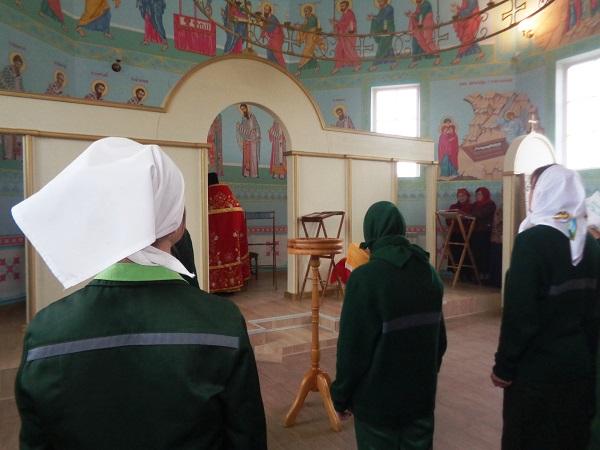 В пятницу Светлой седмицы в ИК-16 совершена Божественная литургия 3 мая, в пятницу Светлой седмицы, по благословению Преосвященнейшего Алексия, е