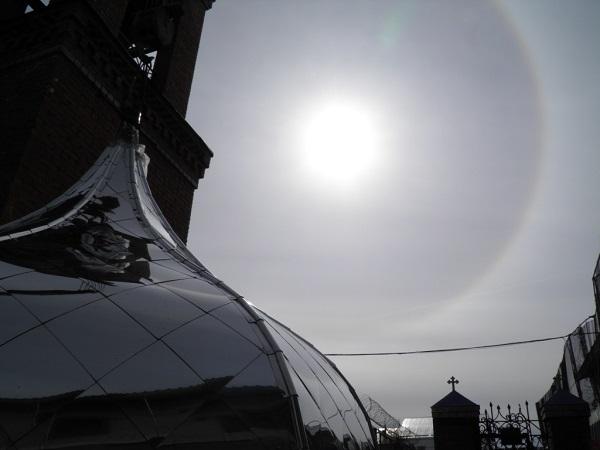 Храм ИК-13 обрел новые купола ВИДЕО