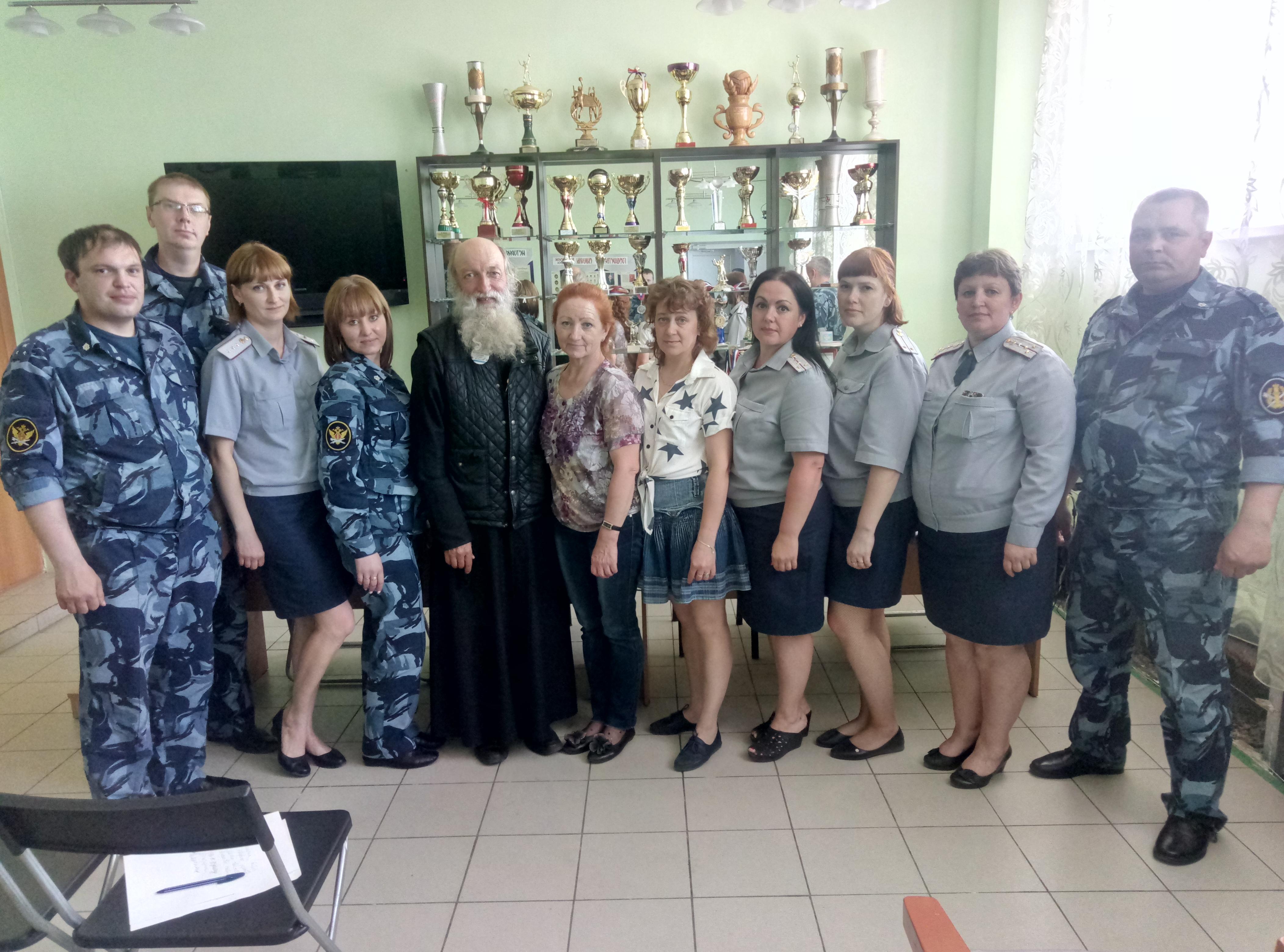 Священник в ИК-52 провел встречу с сотрудниками УИС ВИДЕО